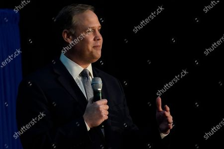 Administrator Jim Bridenstine speaks during the eighth meeting of the National Space Council at the Kennedy Space Center, in Cape Canaveral, Fla