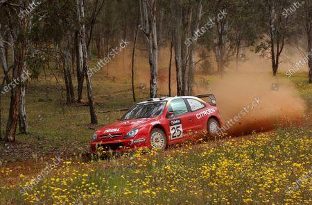 2002 World Rally Championship. Telstra Rally Australia, Perth. October 31st-November 3rd. Sebastien Loeb on stage 17. Photo: Ralph Hardwick/LAT