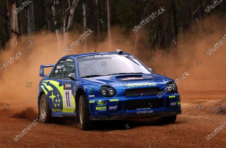 Stock Photo of 2002 World Rally Championship. Telstra Rally Australia, Perth. October 31st-November 3rd. Petter Solberg during shakedown. Photo: Ralph Hardwick/LAT