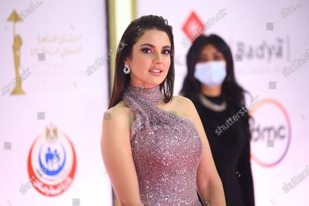 Dorra Zarrouk attends the closing ceremony of the 42nd Cairo International Film Festival (CIFF), in Cairo, Egypt, 10 December 2020. According to the organizers, the 42nd edition of the CIFF running from 02 to 10 December, will feature 16 titles on their international premieres in Cairo.