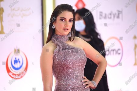 Stock Image of Dorra Zarrouk attends the closing ceremony of the 42nd Cairo International Film Festival (CIFF), in Cairo, Egypt, 10 December 2020. According to the organizers, the 42nd edition of the CIFF running from 02 to 10 December, will feature 16 titles on their international premieres in Cairo.