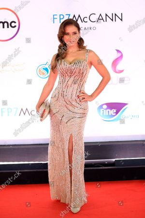 Nelly Karim attends the closing ceremony of the 42nd Cairo International Film Festival (CIFF), in Cairo, Egypt, 10 December 2020. According to the organizers, the 42nd edition of the CIFF running from 02 to 10 December, will feature 16 titles on their international premieres in Cairo.