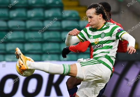 Diego Laxalt of Celtic in action during the UEFA Europa League group H soccer match between Celtic Glasgow vs OSC Lille in Glasgow, Britain, 10 December 2020.