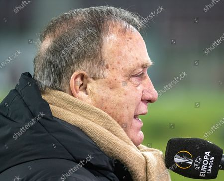 Head coach Dick Advocaat of Feyenoord reacts during the UEFA Europa League group K soccer match between RZ Pellets Wolfsberg and Feyenoord Rotterdam at the Woerthersee stadium in Carinthia, Austria, 10 December 2020.