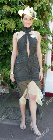 2004 Royal Ascot Ladies Day Picture Shows Kate Waterhouse Wearing Dress By J'ton And Hat By Nerinda De Winter.