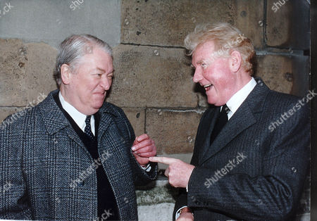 Writers Kingsley Amis (died 10/95) And Paul Johnson Pictured Together At The George Gale Memorial.