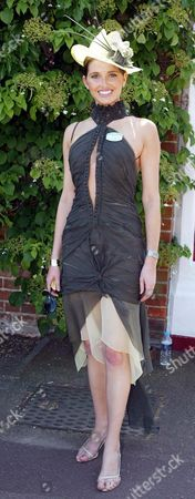 2004 Royal Ascot Ladies Day Picture Shows Kate Waterhouse Wearing A Dress By J'ton And Hat By Nerinda De Winter.