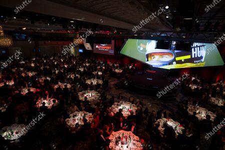 2017 Autosport Awards Grosvenor House Hotel, Park Lane, London. Sunday 3 December 2017. James Hunt on the big screen. World Copyright: Joe Portlock/LAT Images