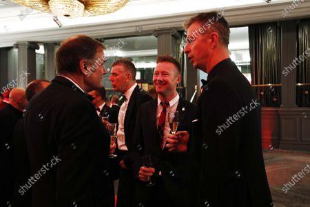 2017 Autosport Awards Grosvenor House Hotel, Park Lane, London. Sunday 3 December 2017. Dick Bennetts talks to Matt Neal and Gordon Shedden. World Copyright: Zak Mauger/LAT Images Ref: Digital Image _56i0476