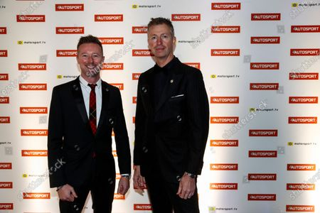 2017 Autosport Awards Grosvenor House Hotel, Park Lane, London. Sunday 3 December 2017. Gordon Shedden and Matt Neal. World Copyright: Glenn Dunbar/LAT Images Ref: Digital Image _31I1455