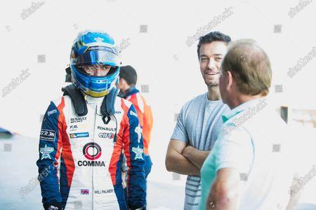 2017 GP3 Series Test 5. Yas Marina Circuit, Abu Dhabi, United Arab Emirates. Thursday 30 November 2017. Will Palmer (GBR, Arden International), with brother Jolyon Palmer and father Jonathan Palmer. Photo: Zak Mauger/GP3 Series Media Service.