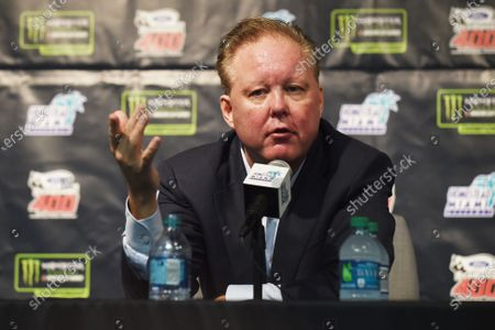 Monster Energy NASCAR Cup Series Homestead-Miami Speedway, Homestead, Florida USA Sunday 19 November 2017 CEO and Chairman of NASCAR Brian France speaks during a press conference World Copyright: Rainier Ehrhardt / LAT Images