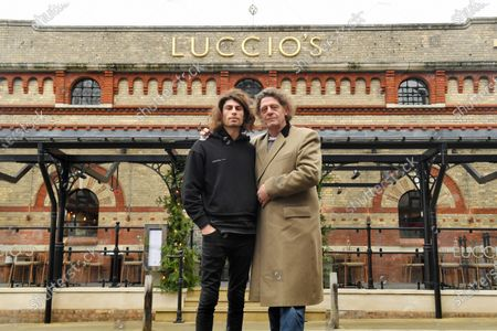 Marco Pierre White and son Luciano Pierre White at the new restaurant in Dorchester.  Marco Pierre White's son has opened his first restaurant as he follows in the famous chef's footsteps.  Luciano Pierre White, 26, and his three time Michelin star winning father both attended the launch of Luccio's in Dorchester, Dorset.  Luciano has designed the menu for the Italian eatery and will also lead a team of chefs there.  He has been in the kitchen with Marco from a young age and gained experience cooking at restaurants in France and Spain under the tutelage of celebrated chefs Pierre Koffmann and Ferran Adria.