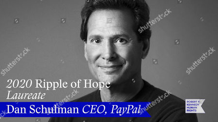 In this screengrab, honoree Dan Schulman is seen at the 52nd annual Robert F. Kennedy Jr Ripple of Hope Award gala, honoring modern-day human rights defenders on December 10, 2020 in Various Cities.