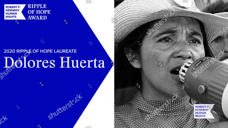 In this screengrab, honoree Dolores Huerta is seen at the 52nd annual Robert F. Kennedy Jr Ripple of Hope Award gala, honoring modern-day human rights defenders on December 10, 2020 in Various Cities.