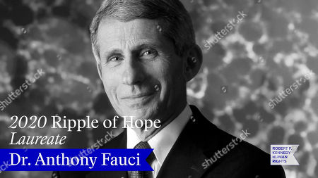 In this screengrab, honoree Dr. Anthony Fauci is seen at the 52nd annual Robert F. Kennedy Jr Ripple of Hope Award gala, honoring modern-day human rights defenders on December 10, 2020 in Various Cities.