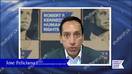 In this screengrab, José E. Feliciano speaks at the 52nd annual Robert F. Kennedy Jr Ripple of Hope Award gala, honoring modern-day human rights defenders on December 10, 2020 in Various Cities.