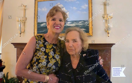 (L-R) In this screengrab, Kerry Kennedy and Ethel Shakel Kennedy speak at the 52nd annual Robert F. Kennedy Jr Ripple of Hope Award gala, honoring modern-day human rights defenders on December 10, 2020 in Various Cities.