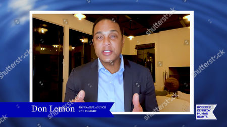 Stock Picture of In this screengrab, Don Lemon speaks at the 52nd annual Robert F. Kennedy Jr Ripple of Hope Award gala, honoring modern-day human rights defenders on December 10, 2020 in Various Cities.