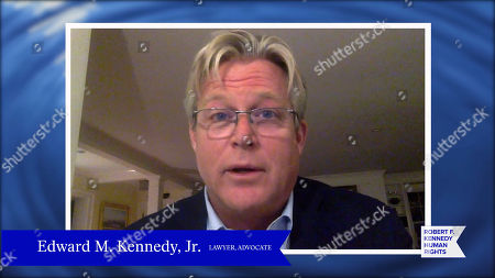 In this screengrab, Edward Kennedy, Jr. speaks at the 52nd annual Robert F. Kennedy Jr Ripple of Hope Award gala, honoring modern-day human rights defenders on December 10, 2020 in Various Cities.