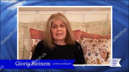 In this screengrab, Gloria Steinem speaks at the 52nd annual Robert F. Kennedy Jr Ripple of Hope Award gala, honoring modern-day human rights defenders on December 10, 2020 in Various Cities.