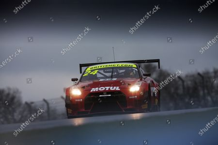2018 British GT Championship, 9th March 2018, Donington Park, England UK. Devon Modell / Struan Moore Team RJN Nissan GT-R NISMO GT3 World copyright. JEP/LAT Images
