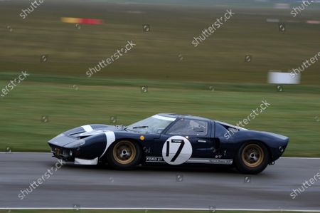 Stock Image of Race 11 Gurney Cup Stuart Hall Ford GT40