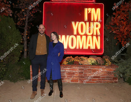 "Stock Photo of Producer Jordan Horowitz and Director Julia Hart attend Amazon Studios ""I'm Your Woman"" Drive In Screening"