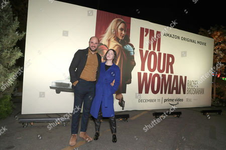 "Stock Image of Producer Jordan Horowitz and Director Julia Hart attend Amazon Studios ""I'm Your Woman"" Drive In Screening"