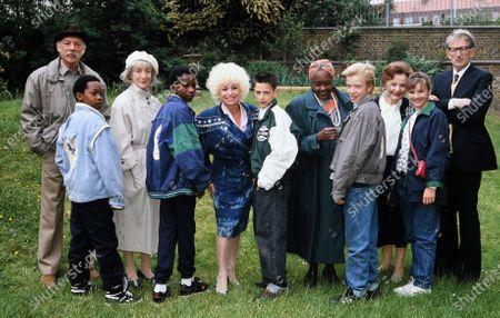 Bluebirds Tv Show cast include Barbara Windsor, Martine McCutcheon, Isabelle Lucas, Sheila Steafel, Pauline Delaney, Graeme Lally, Sean Blowers and Lance Percival 1989
