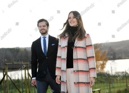 Sweden's Prince Carl Philip (L) and Princess Sofia of Sweden are together on a visit to the vineyard Kulinarika in Sunne, Sweden, 28 October 2020 (issued 11 December 2020). Prince Carl Philip and Princess Sofia of Sweden expecting their third child and the birth is expected to take place at the turn of the month March to April 2021, the Swedish Royal Court announced on Social Media. The couple alreqady has two children, Prince Alexander and Prince Gabriel.