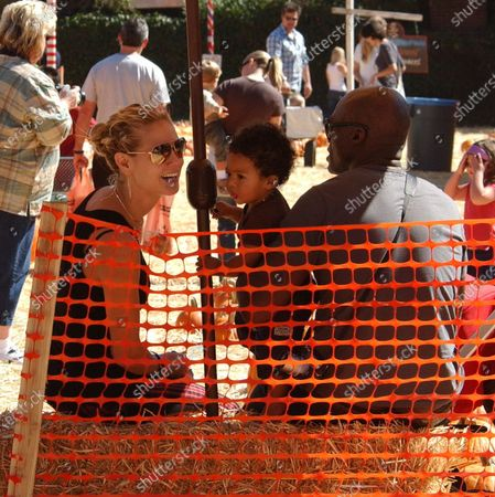 Celebrities including Seal and Heidi Klum with theire children and Courtney Cox Arquette with daughter Coco and Justin Chambers of the hit show Grey's Anatomy with his five kids spend the afternoon at Mr Bones Pumpkin Patch in West Hollywood, Ca
