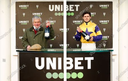 Presentation to Richard Lee and Richard Patrick for The Unibet Handicap Chase won by STORM CONTROL Cheltenham