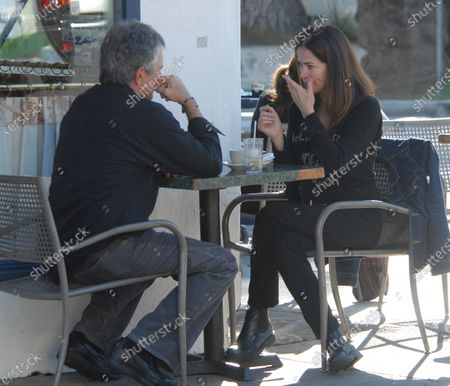 Exclusive - Kim Delaney who starred on NYPD Blue and actor Anthony John Denison who stars on the Closer has lunch at Le Conversation restaurant in West Hollywood, Ca