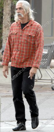 Stock Picture of Exclusive - Actor Sam Elliot who can soon be seen in theatres in the film The Golden Compas heads to his car while out and about in Malibu, Ca