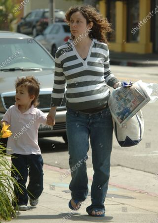 Editorial image of EXCLUSIVE: Sara Gilbert takes her son to the Dr' in Santa Monica, Ca, California, USA - 23 May 2007