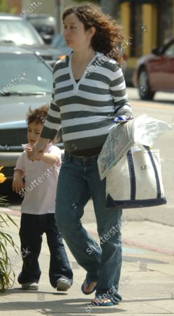 Editorial photo of EXCLUSIVE: Sara Gilbert takes her son to the Dr' in Santa Monica, Ca, California, USA - 23 May 2007
