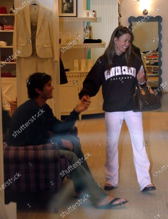 Exclusive - Trista Rehn and husband Ryan Sutter who are  the only couple from The Bachelorette or Bachelor reality series to make it to the altar do some shopping along Beverly Drive in Beverly Hills, Ca They were shopping for cell phones at the T-mobile store