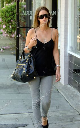 Nicky Hilton the popular heiress and sister of the even more popular Paris Hilton looks as if she is in serious need of getting her hair done as her roots are showing as she heads to Sally Hershberger Hair Salon along Melrose Place in West Hollywood, Ca