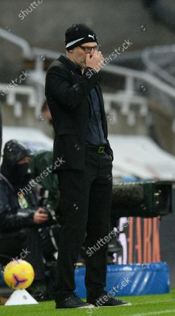 Slaven Bilic manager of West Bromwich Albion is dejected