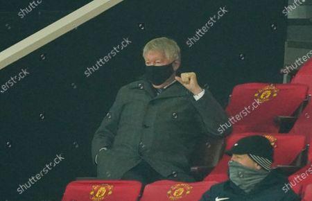 Former Manchester United manager Sir Alex Ferguson looks om