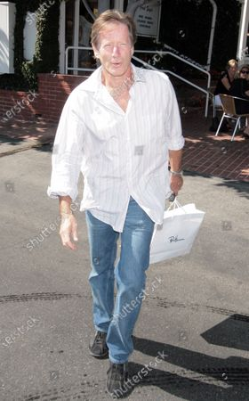 Peter Strauss who starred in the 70's Mini series Rich Man Poor Man out shopping at Fred Segal in West Hollywood, Ca