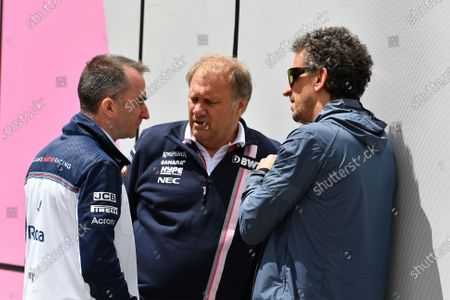 Paddy Lowe (GBR) Williams Shareholder and Technical Director, Robert Fearnley (GBR) Force India F1 Team Deputy Team Principal and Anthony Rawlinson (GBR) Jopurnalist