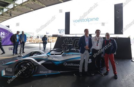 David Coulthard, British racing driver and TV Presenter, Alejandro Agag, CEO, Formula E, and Dr Wolfgang Eder, Chairman and CEO of Voestalpine AG.