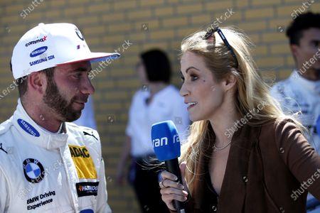 Philipp Eng, BMW Team RBM with Andrea Kaiser, Sat1-TV.