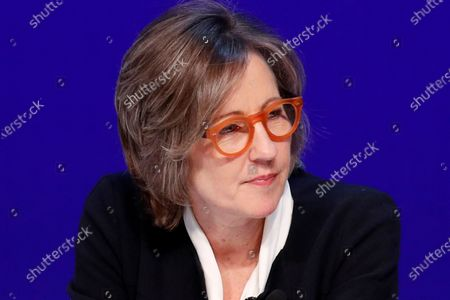 Dee Dee Myers, executive vice president at Warner Bros., speaks during a women's forum at the Wynn hotel and casino in Las Vegas. Myers, a former press secretary to President Bill Clinton, became a senior adviser to California Gov. Gavin Newsom, and director of the Governor's Office of Business and Economic Development