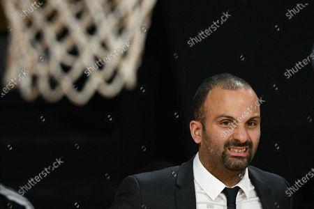 Villeurbanne's head coach TJ Parker in action during the Euroleague basketball match between Bayern Munich and Asvel Villeurbanne in Munich, Germany, 11 December 2020.