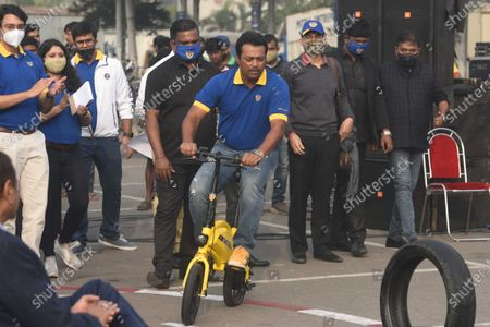 Editorial photo of Tennis Player Leander Paes At The Launch Of Motovolt Mobility Smart E-Cycles, Kolkata, West Bengal, India - 11 Dec 2020