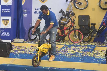 Editorial picture of Tennis Player Leander Paes At The Launch Of Motovolt Mobility Smart E-Cycles, Kolkata, West Bengal, India - 11 Dec 2020