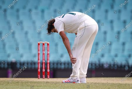 Australia's Sean Abbott reacts during Day 2 of the tour match between Australia A and India at the SCG in Sydney, Australia, 12 December 2020.